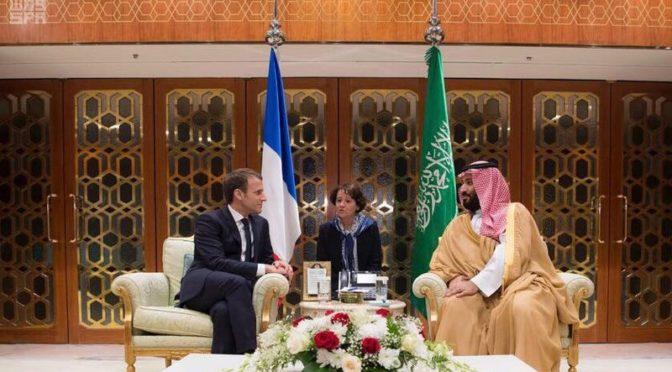 Наследный принц обсудил с президентом Франции развитие сотрудничества между странами