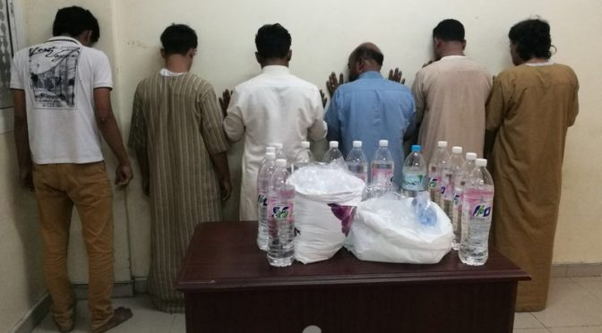 В Мекке в ходе полицейской операции в поздние ночные часы были арестованы распространители спиртоного и наркотиков