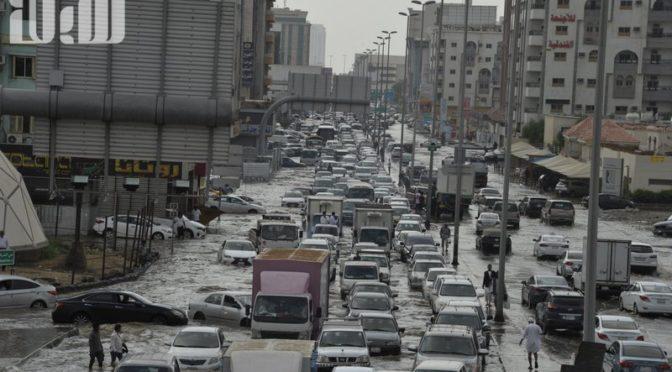 Дожди в Джидде в фотографиях
