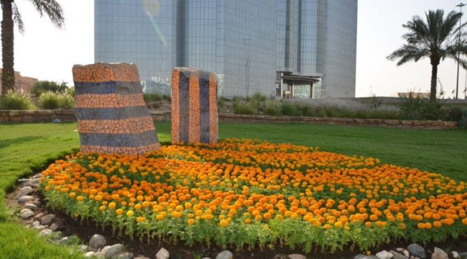 Цветы украсили улицы и площади Эр-Рияда