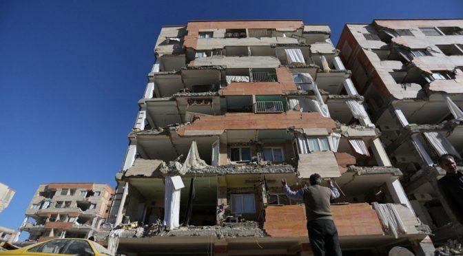Разрушительное землятресение в Иране