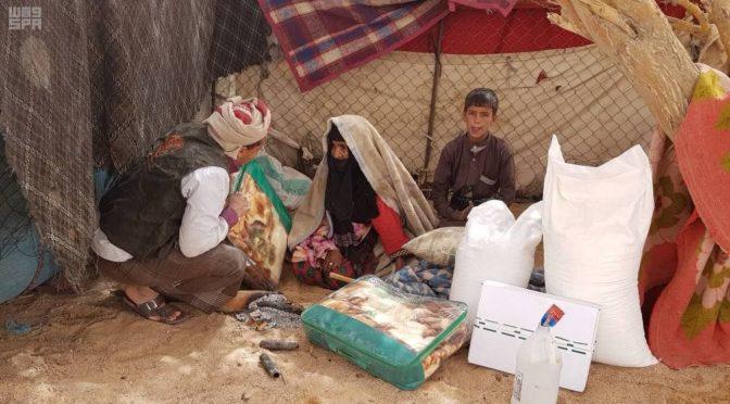 Центр гуманитарной помощи им.Короля Салмана предоствил предметы обихода и продукты 240 семьям в местности Каиф провинции Джуф