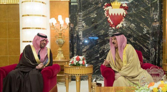 Король Бахрейна принял Его Высочество Министра внутренних дел Королевства