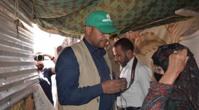 Центр гуманитарной помощи им.Короля Салмана распределил материалы для мест пребывания 983 семей беженцев в провинции Сана