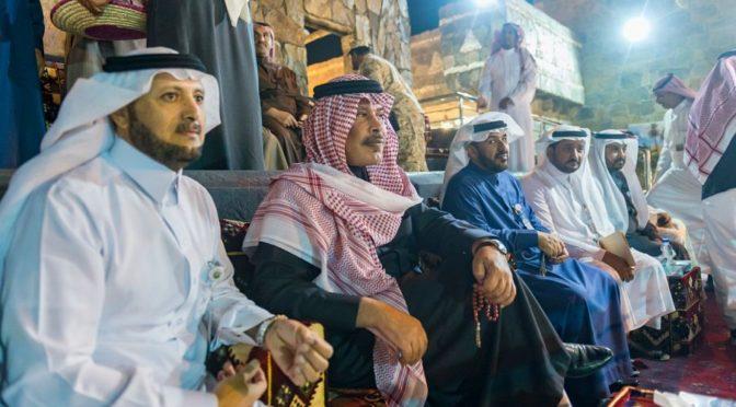 Принц Мишари бин Сауд бин Абдулазиз посетил деревню провинции Баха на фестивале Джанадирия