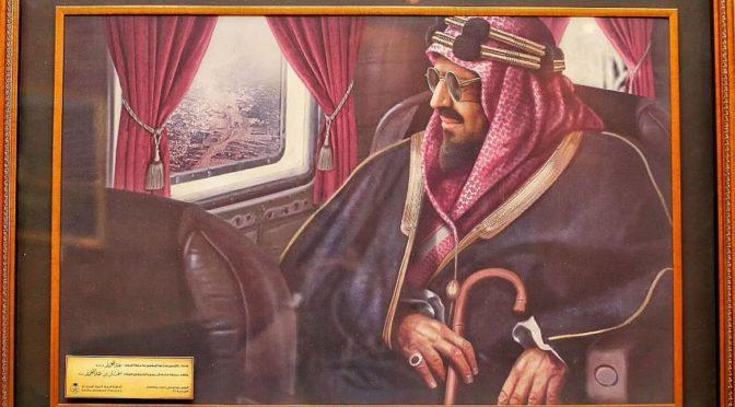 Художественное изображение первого полёта на самолёте Короля-основателя