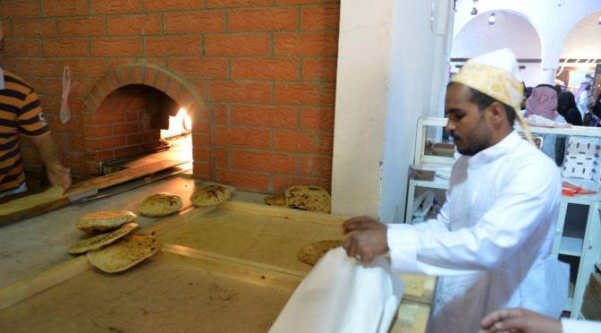 Запах  городского хлеба, распостраняющийся на фестивале Джанадирия, привлекает посетителей