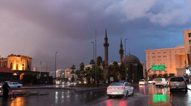 Фотокорреспондент агентства «ВАС»запечатлел дождевую атмосферу над Лучезарной Мединой