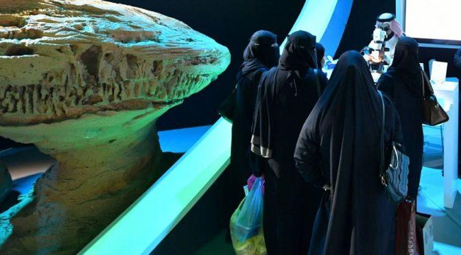 Геологическая экспозиция демонстрирует на фестивале Джанадирия горные породы и полезные ископаемые