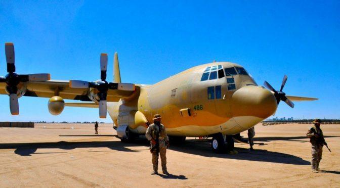 Первые самолёты с гуманитарной помощью саудийского воздушного моста доставили гуманитарную помощь Центра гуманитарной помощи им.Короля Салмана жителям о.Сокотра