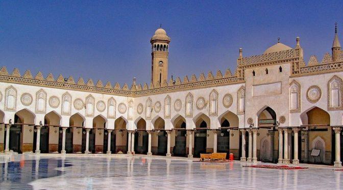 Наследный принц и президент Египта открыли  мечеть аль-Азхар после реконструкции
