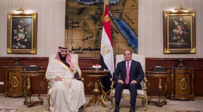 Его Высочество наследный принц и президент Египта присутствовали на подписании трёх договоров и меморандума о взоимпонимании в сфере инвестиций