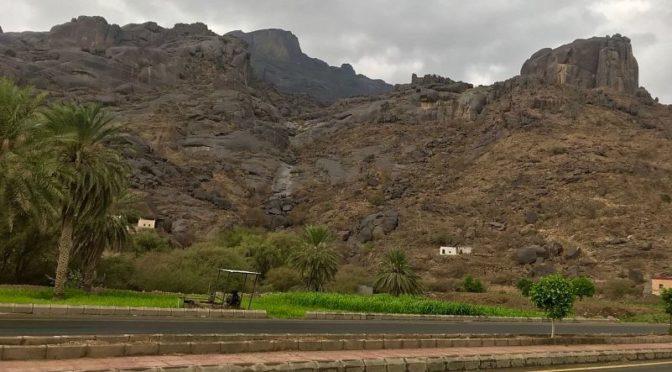 Дожди над административным центром Хата округа аль-Муджарада
