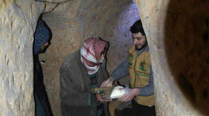Центр гуманитарной помощи им.Короля Салмана доставил 500 продовольственных корзин в Восточную Гуту