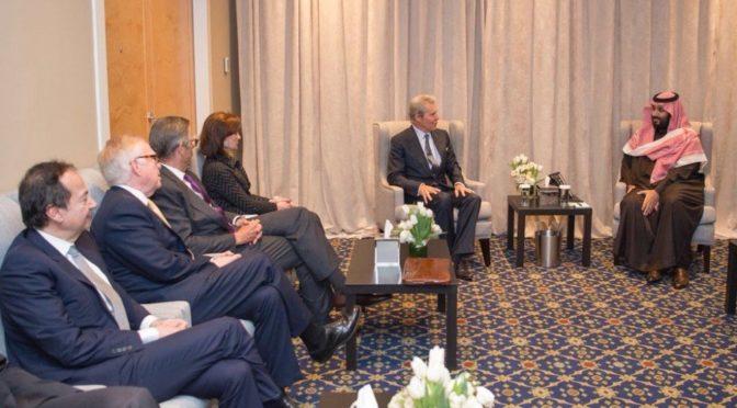 Наследный принц встретился с президентом и членами нью-йорского экономического клуба