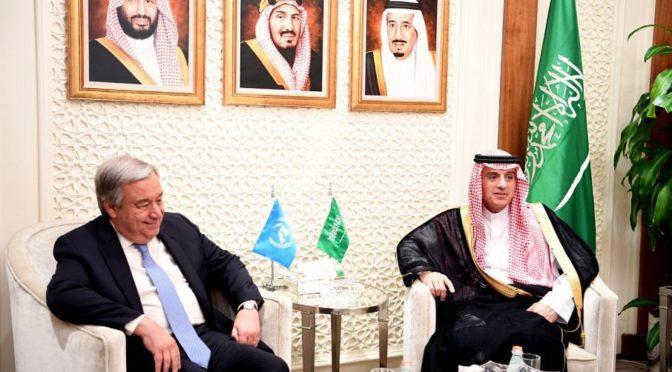 Министр иностранных дел принял генерального секретаря ООН