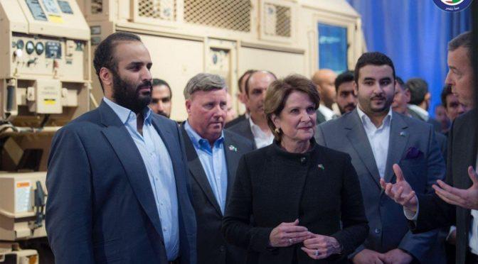 Наследный принц посетил компанию Lockheed Martin и ознакомился с передовыми технологиями ПВО и спутниковой связи