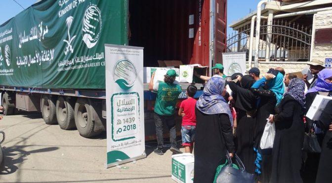 Центр гуманитарной помощи им.Короля Салмана продолжает распределение наборов для ифтара постящихся сирийским беженцам в Ливане