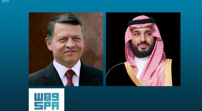 Наследный принц и Король Иордании обсудили в телефонном разговоре  братские отношения