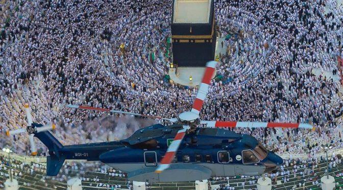 Портал «Сабк» и авиация сил безопасности  сделали аэрофотоснимки Запретной Мечети перед ифтаром