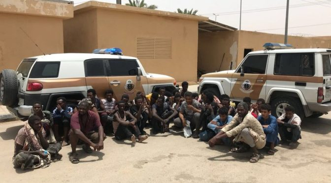 Силы безопасности вади Давасир освободили нескольких неизвестных, заключённых в кемпере в пустыне
