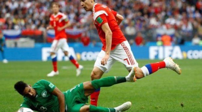 Болезненное поражение саудийской сборной в матче с Россией при открытии Мундиаля
