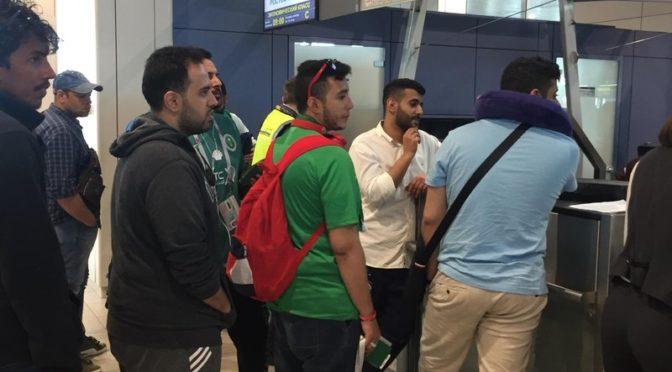 Саудийские болельщики в московском аэропорту направляются в Ростов, следуя за «зелёной сборной»