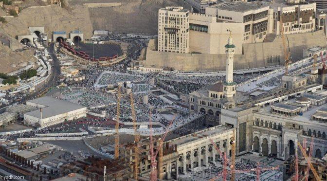 «Эр-Рияд»  следит за спокойствием и безопасностью паломников и посещающих Дом Аллаха с воздуха