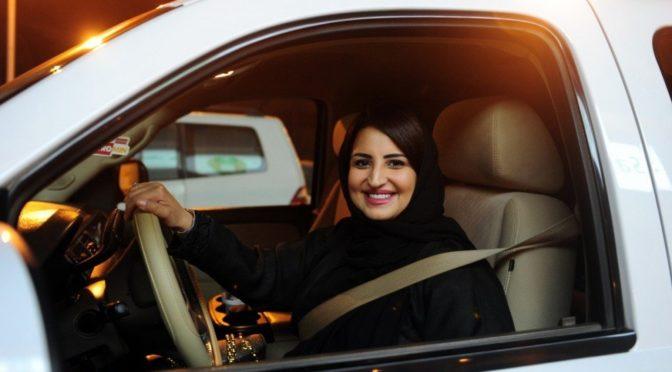 Саудийская женщина за рулём