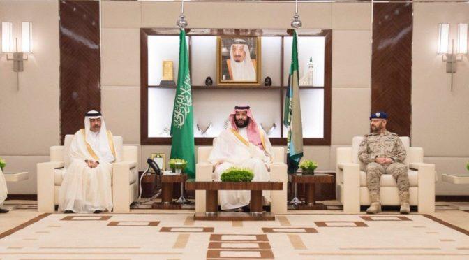 Наследный принц принял командование и отвественных чиновников Министерства обороны