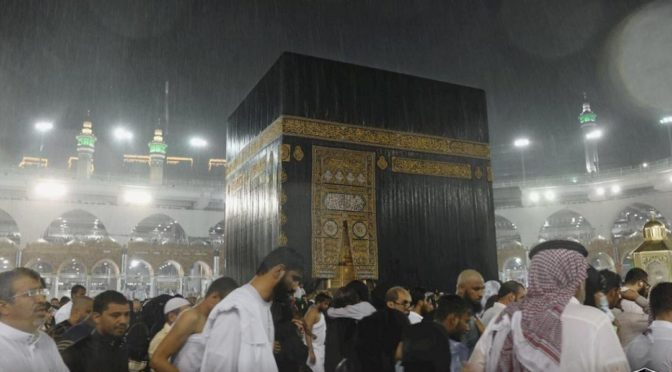Главное управление по делам Двух Святынь прилагает усилия по устранения последствий дождей, прошедших над Запретной Мечетью