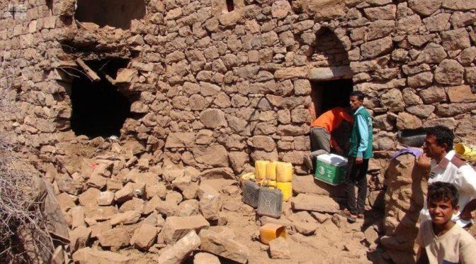 Центр гуманитарной помощи им.Короля Салмана продолжает доставку гуманитарной помощи и принадлежностей в муниципалитет аль-Гайза провинции Махра