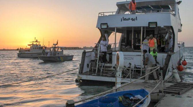 16 человек спасены с прогулочного судна, севшего на мель на рейде у Янбу