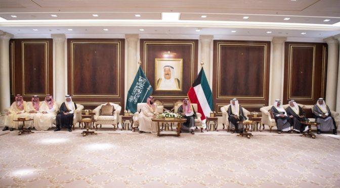 Эмир Кувейта принял Его Высочество наследного принца и дал торжественный ужин в его честь