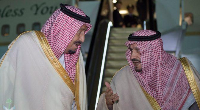 Служитель Двух Святынь прибыл в Эр-Рияд по завершению визита в северные провинции Королевства