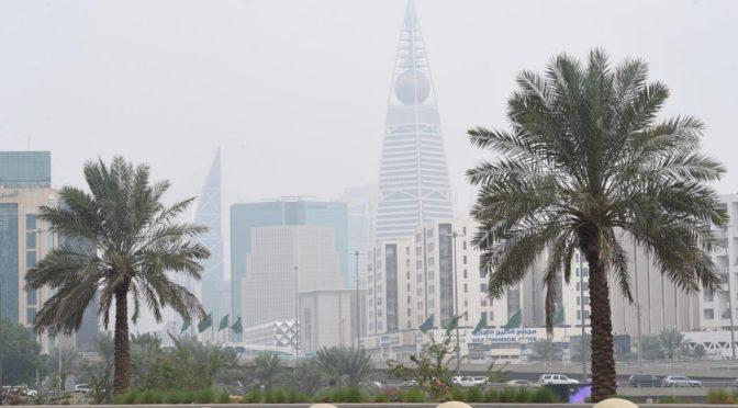 Эр-Рияд укрылся туманом