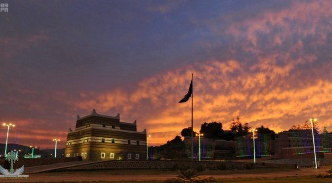 Живописная картина неба Асира