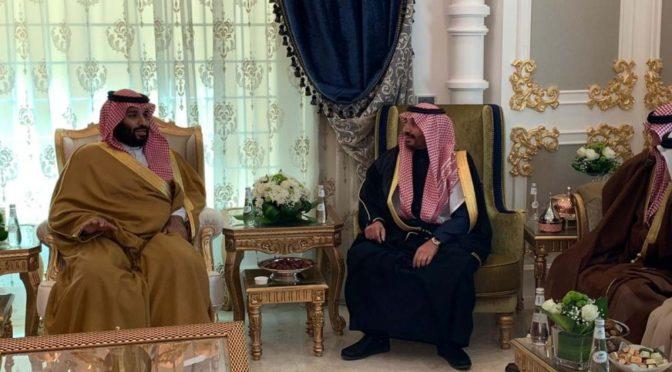 Наследный принц посетил шейхов и старейшин Аръара