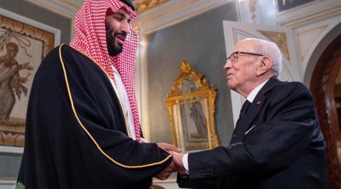 Наследный принц провёл двусторонние переговоры с президентом Туниса