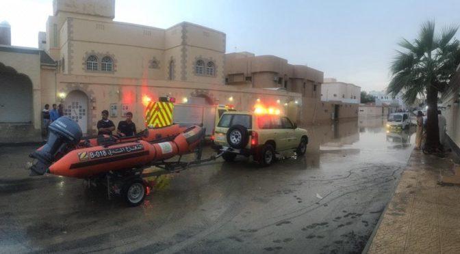 Дожди в Эр-Рияде: спасено 93 чел, повреждён 71 автомобиль, зафиксировано 34 повреждения линий  электроснабжения