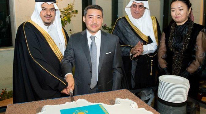 Заместитель губернатора провинции Эр-Рияд посетил праздничную церемонию  в посольстве Казахстана в Королевстве