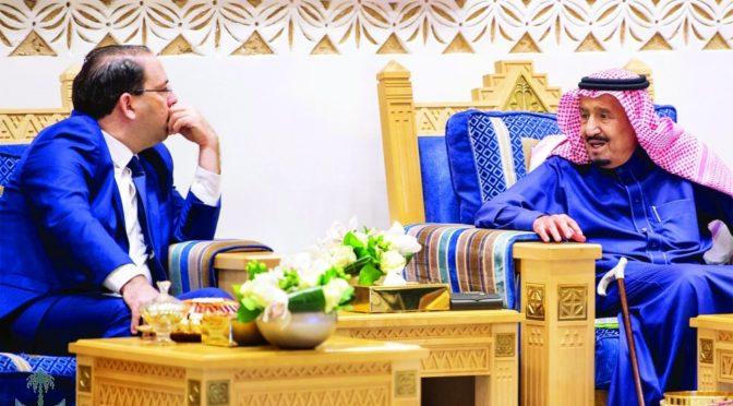 Служитель Двух Святынь принял премьер-министра Туниса и дал торжественный обед в его честь