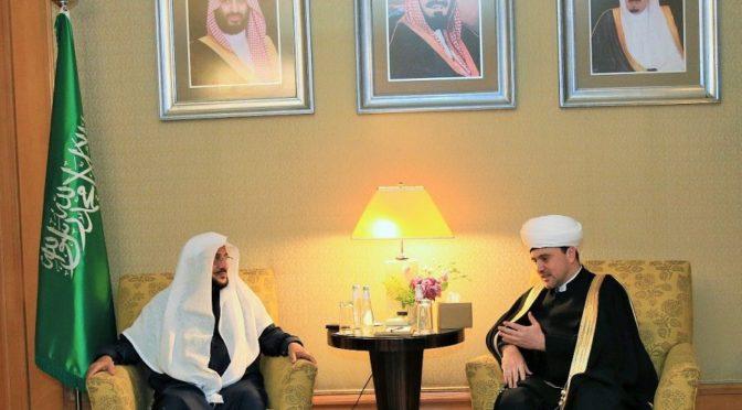 Министр по делам Ислама, призыва и наставления встретился с заместителем председателя Совета муфтиев России