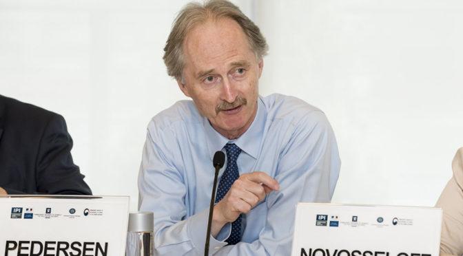 Заместитель Министра иностранных дел по делам политики и экономики принял специального посланника ООН по Сирии