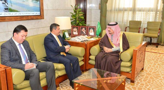 Губернатор провинции Эр-Рияд принял посла республики Казахстан в Королевстве