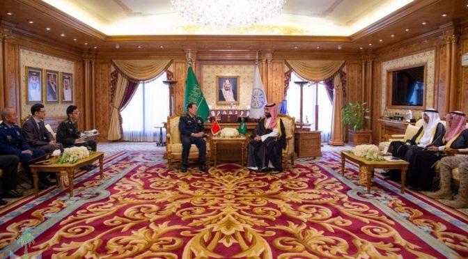 Наследный принц встретился с министром обороны Китая