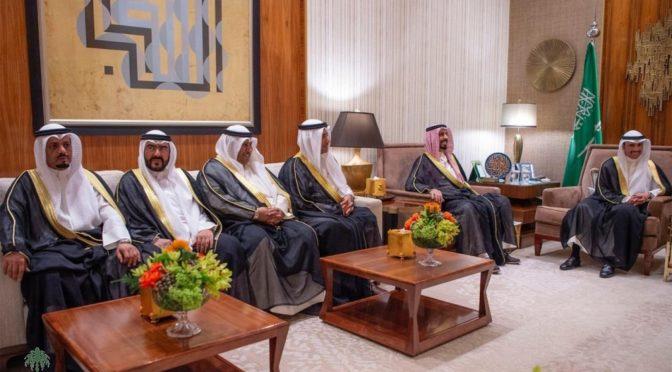 Наследный принц принял Главу Совета бедопасности Кувейта и главу Всемирного экономического форума «Давос»