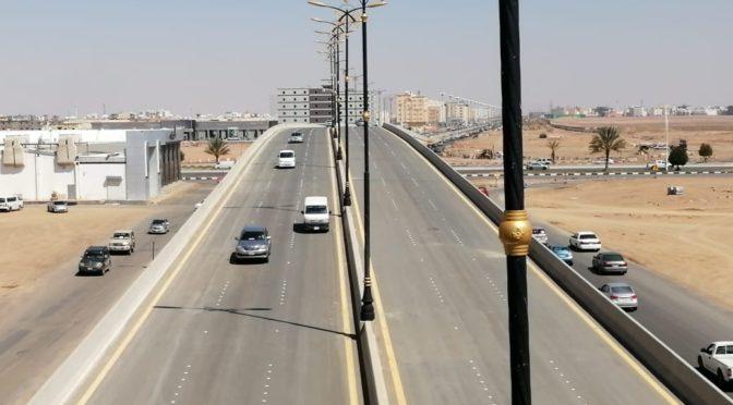В г.Табук открылся мост на перкрёстке шоссе им.принца Наифа бин Абдулазиза и шоссе им.Короля Халида