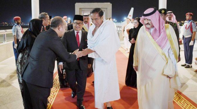 Его Честь президент Индонезии прибыл в Джидду