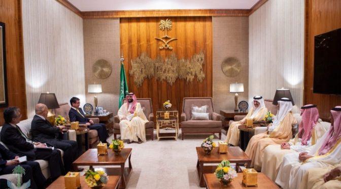Наследный принц встретился с Министром иностранных дел Японии